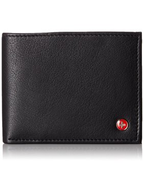 Alpine Swiss Mens Wallet Real Leather Flipout Hybrid Bifold Trifold ID Card Case