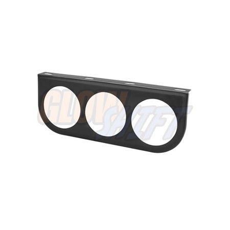 GlowShift Universal 52mm Triple Gauge Under Dashboard Mounting Bracket - Triple Pond Light Set