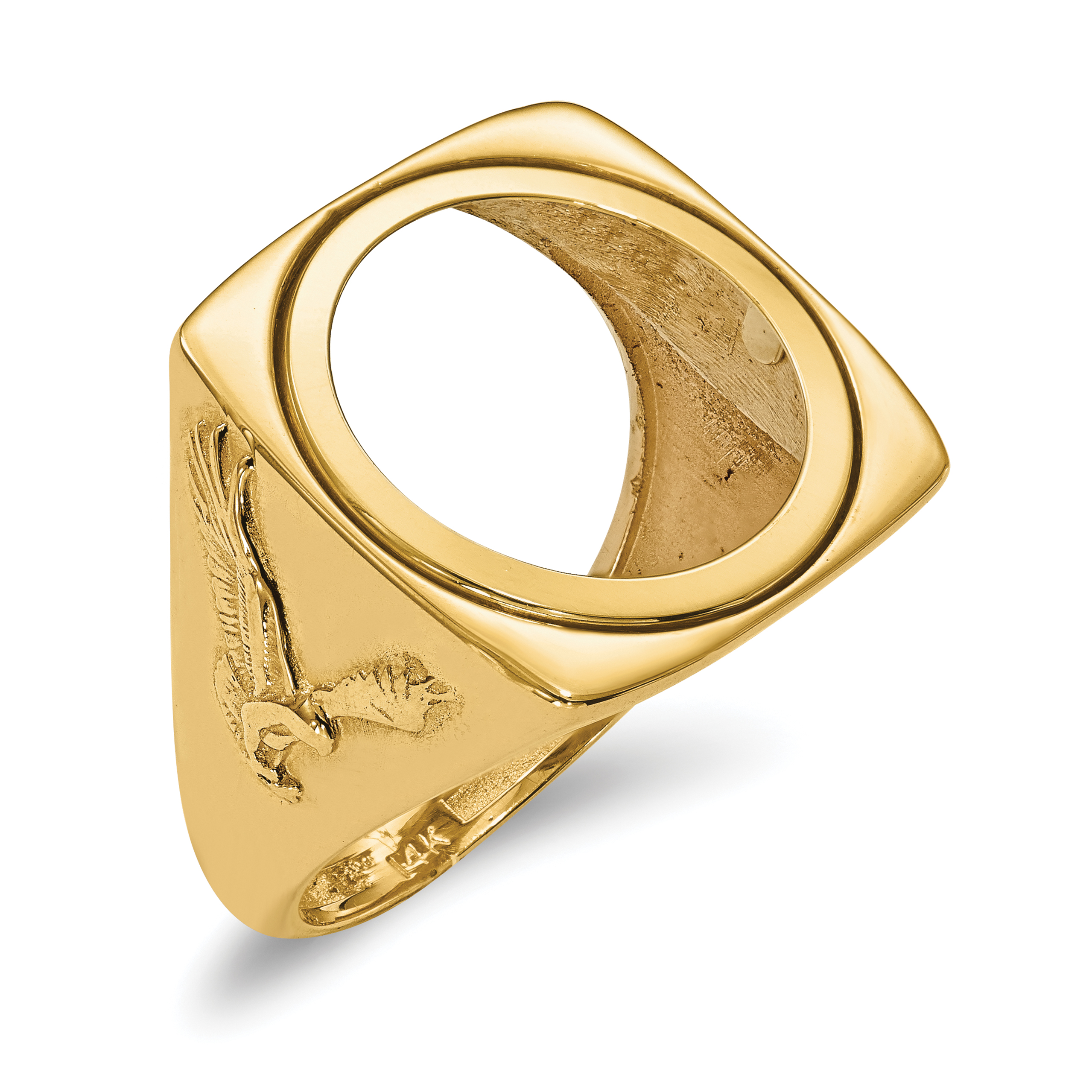 14k Yellow Gold 1/10ae Coin Band Ring Size 10.00 Fine Jewelry Gifts For Women For Her - image 12 de 12