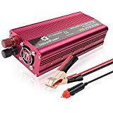 2000W Car Power Inverter Mesllin DC 12V to AC 110V Modified Sine Wave Converter with 2 AC Outlets and 5A USB (Modified Sine Wave Vs Pure Sine Wave)