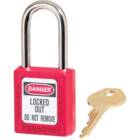 American Lock Red Padlock - Master Lock, MLK410RED, Danger Red Safety Padlock, 1 Each, Red