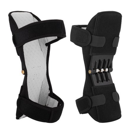 1 Pair Knee Protection Booster Power Lifts Joint Support Pads with Powerful Rebounds Spring Force Old Cold Leg Knee Band for Sports Hiking Climbing Training Squat Reduces Soreness Contour Knee Pads