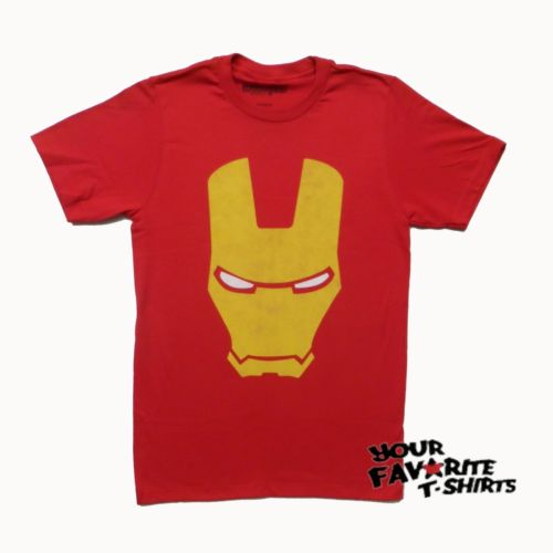 Iron Man Armored Avenger Helmet Marvel Comics Adult T-Shirt