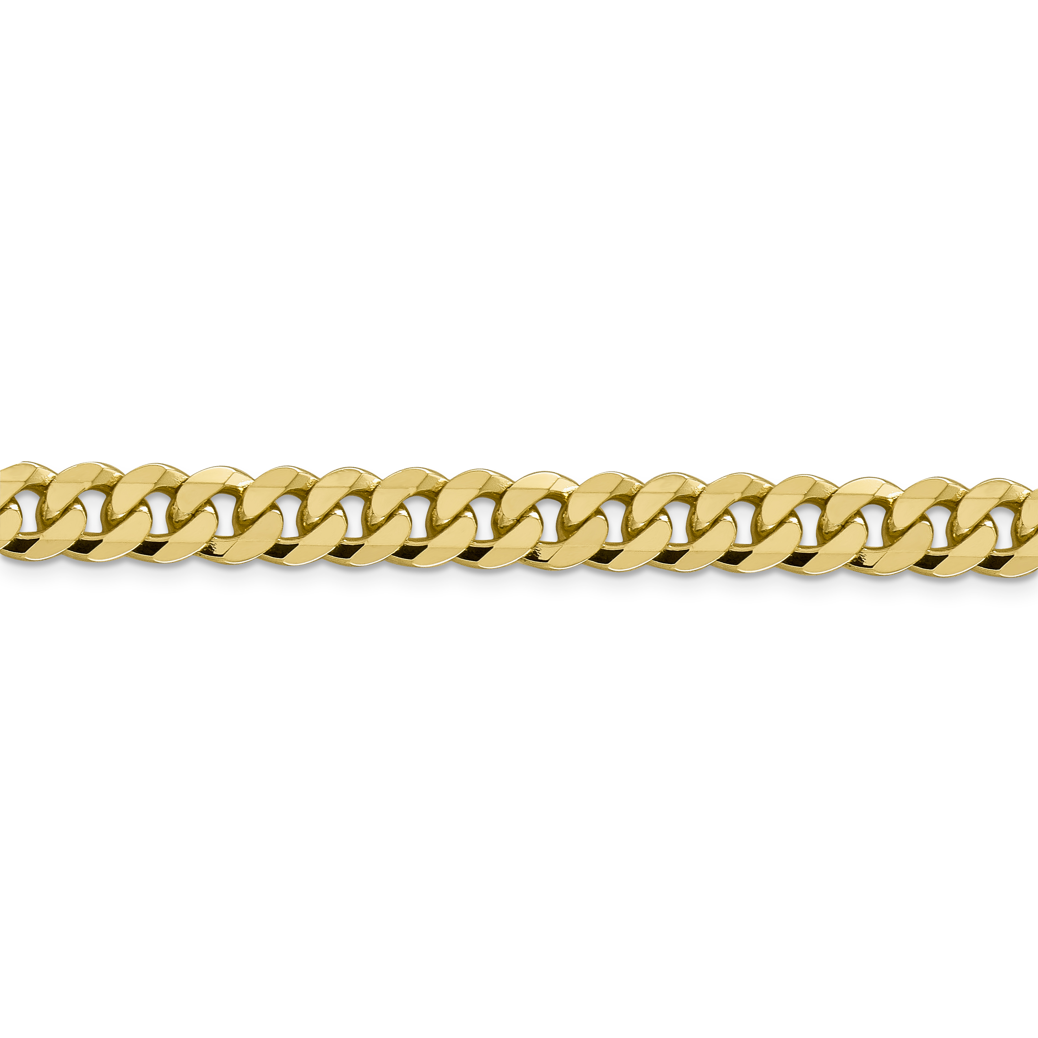14K Yellow Gold 8.75mm Beveled Curb Chain 20 Inch - image 1 de 5