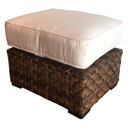 Wicker Paradise Westbury Ottoman with Sunbrella Cushion ()