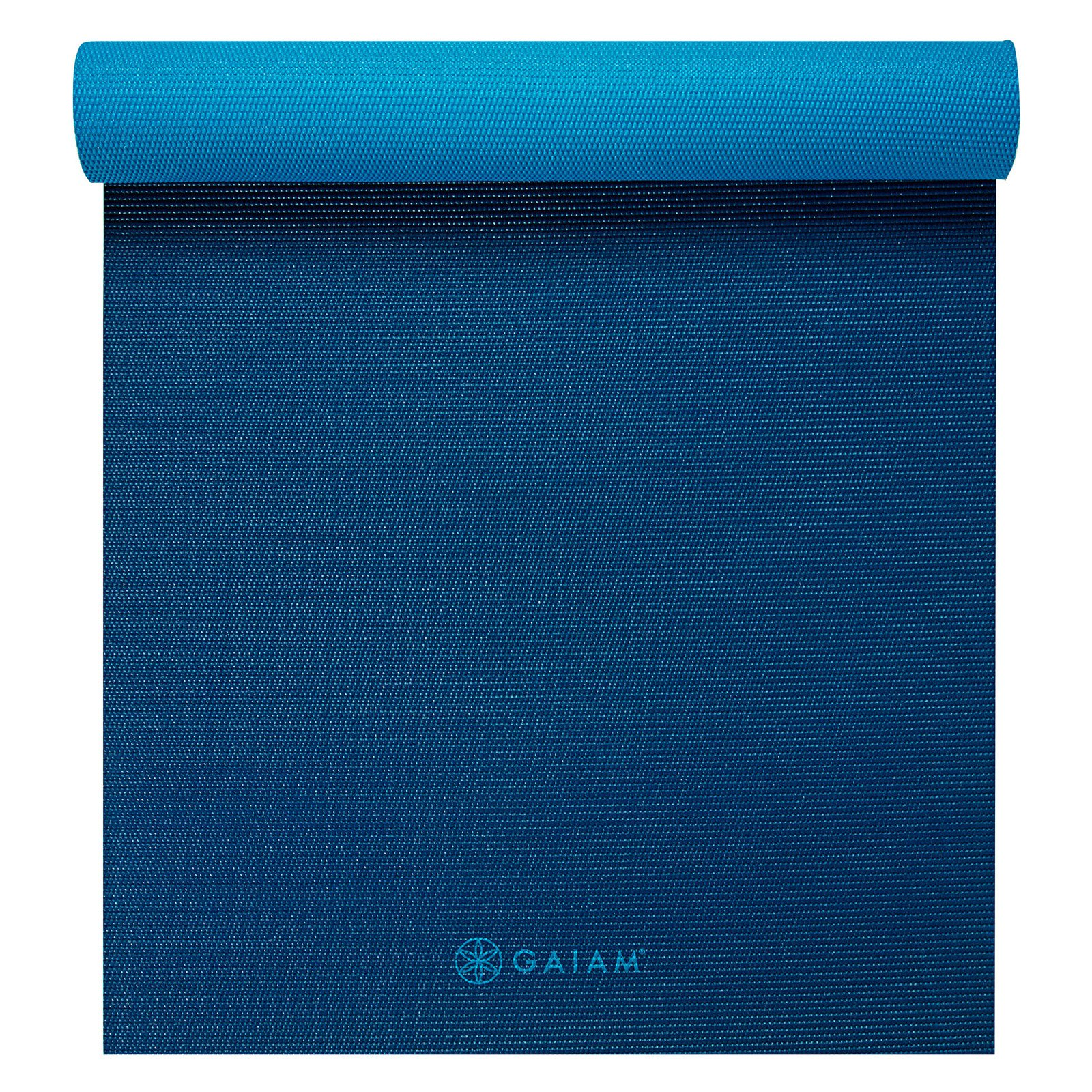 Gaiam Premium 2-Color Yoga Mat, Plum Jam, 5mm