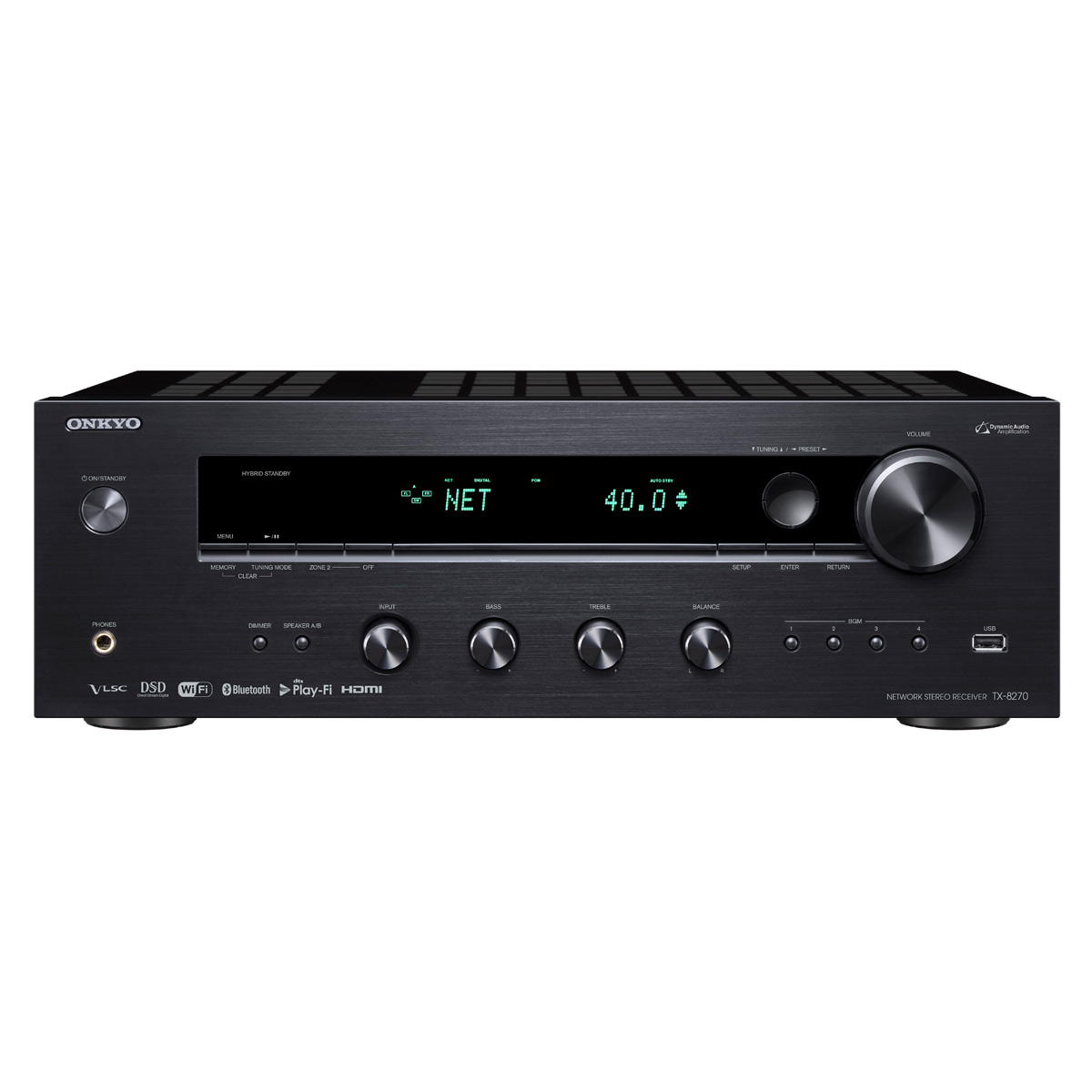 Onkyo TX-8270 Network Stereo Receiver with Built-In HDMI, Wi-Fi, and Bluetooth by Onkyo
