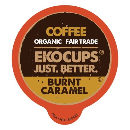 EkoCups, Organic Fair Trade Burnt Caramel Coffee Single Serve Cups, 40 Ct