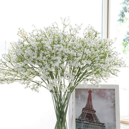 Artificial Fake Babys Breath Gypsophila Silk Flowers Bouquet Wedding Home -
