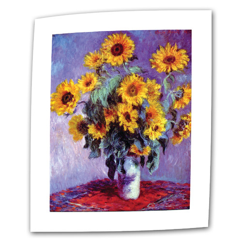 ArtWall ''Sunflowers'' by Claude Monet Painting Print on Canvas