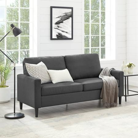 "Mainstays 72.5"" Woven Fabric Apartment Sofa, Gray"
