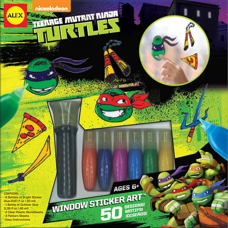ALEX Toys Teenage Mutant Ninja Turtles Window Sticker Art - Ninja Turtle Crafts