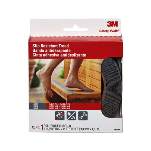 3M 7647NA GRY Home & Recreational Safety Treads