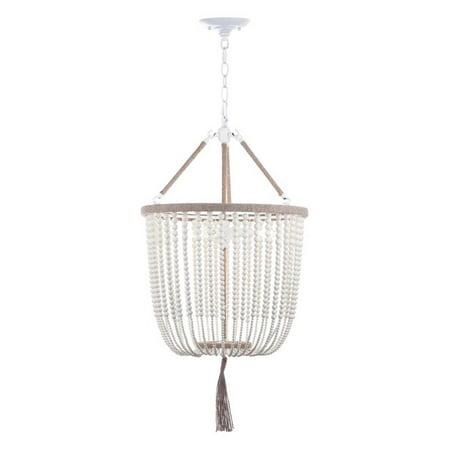 Angie Beads Pendant Lamp In Cream Finish