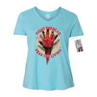 the walking dead fight the dead hand plus size womens vneck shirt top