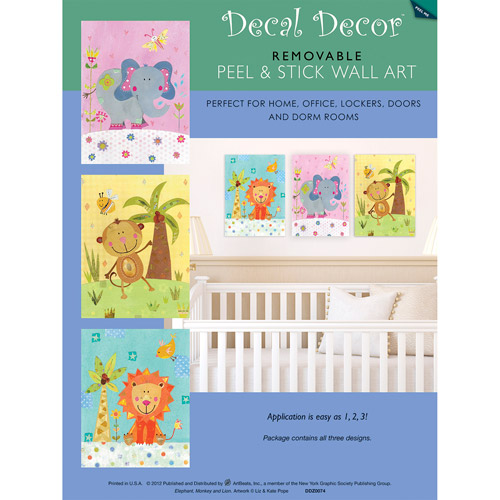 """Nursery Petting Zoo Animals"" Wall Decals"
