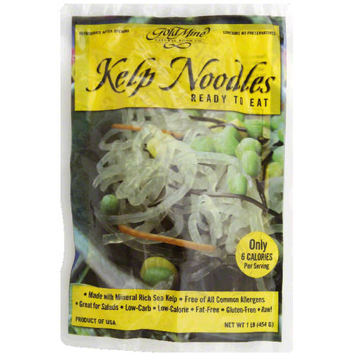 Gold Mine Kelp Noodles, 16 oz, (Pack of 12) by