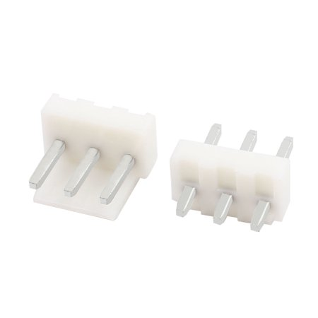 230Pcs 3mm Pitch Single Row 3P Docking Connector Plastic Shell White - image 1 of 2