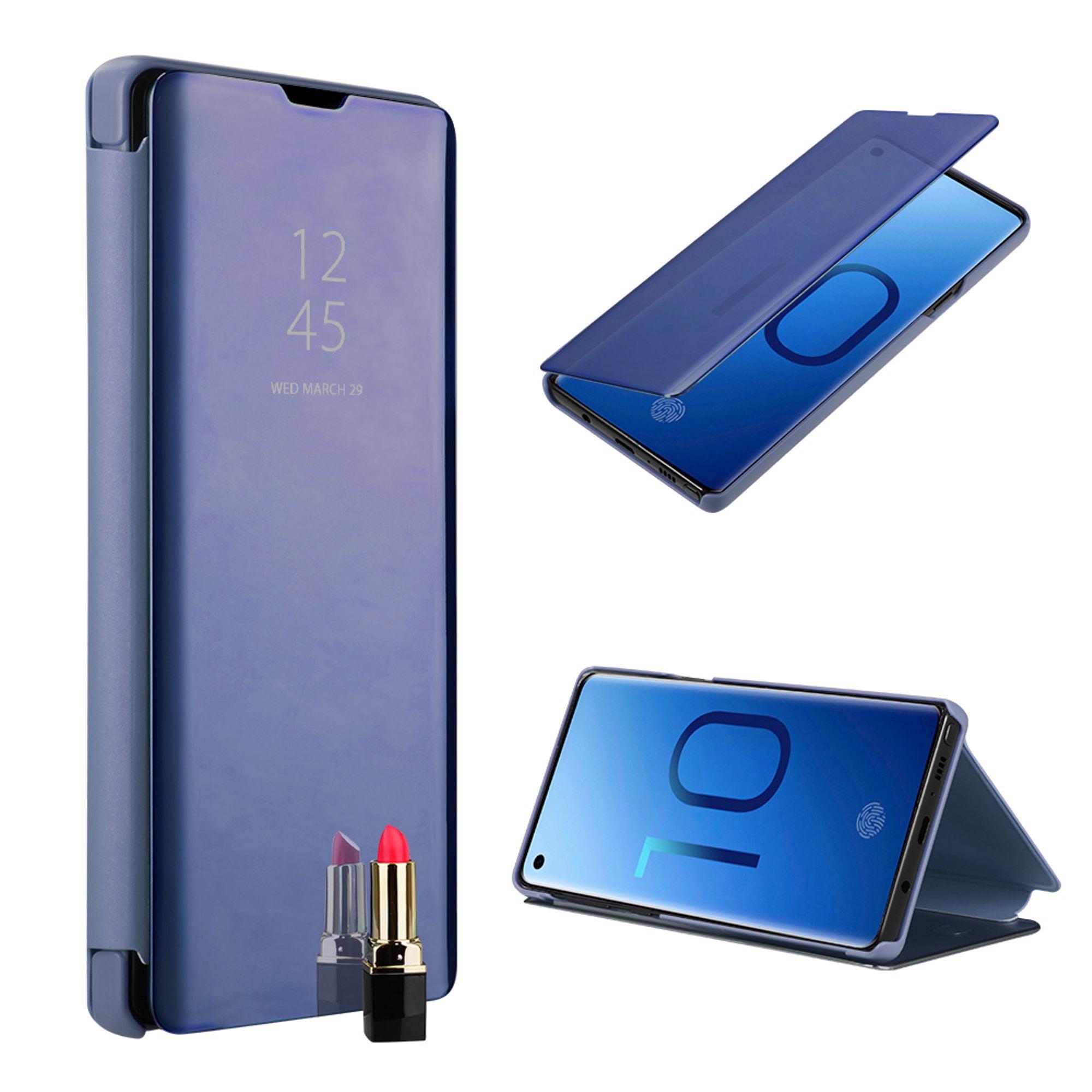 For Samsung Galaxy S10 Case, by Insten Metallic Mirror Folio Flip Hard Snap-in Transparent Case