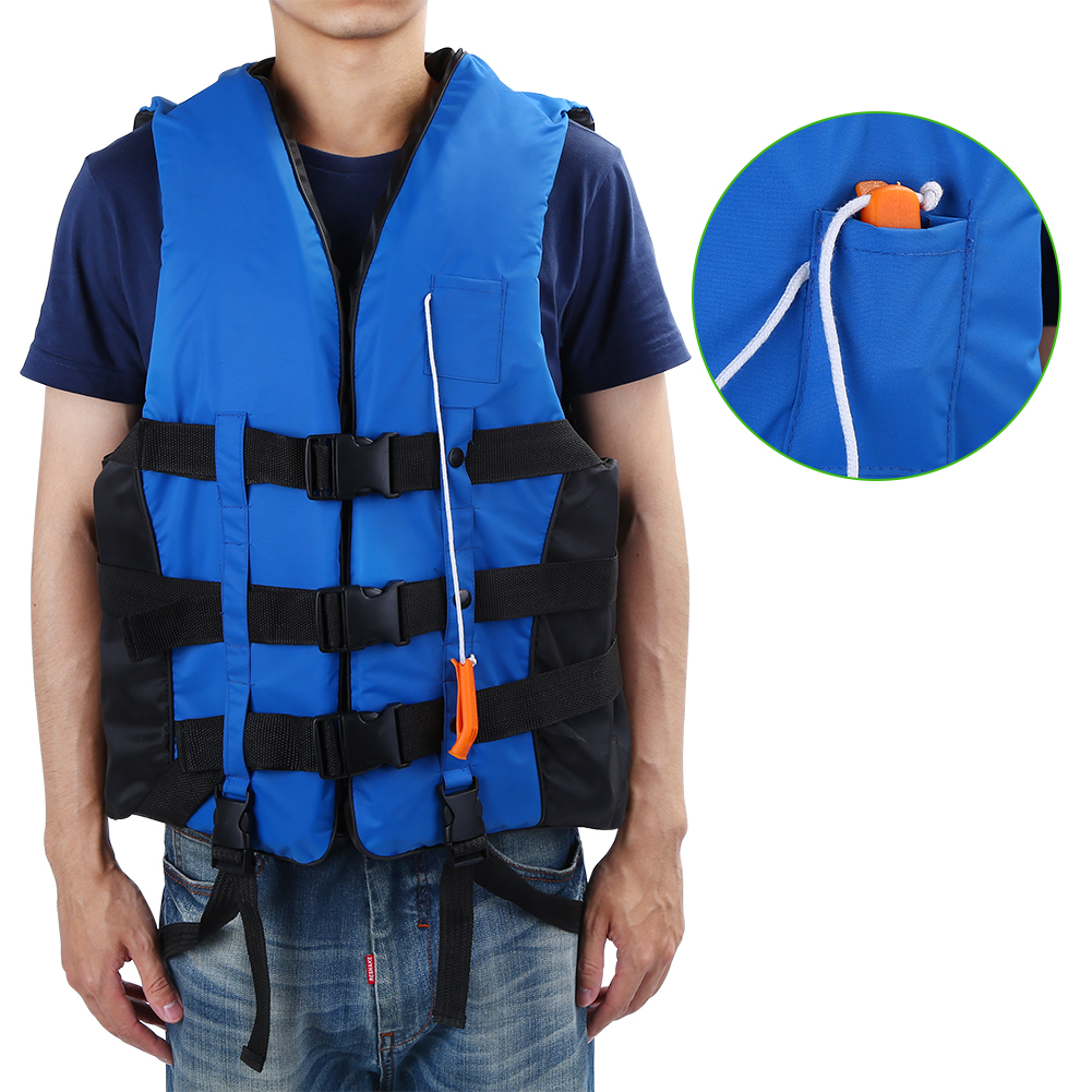 Life Jacket with Whistle, Children and Adult Buoyancy Aid Universal Swimming Boating Kayaking Vest Drifting Ski... by Estink