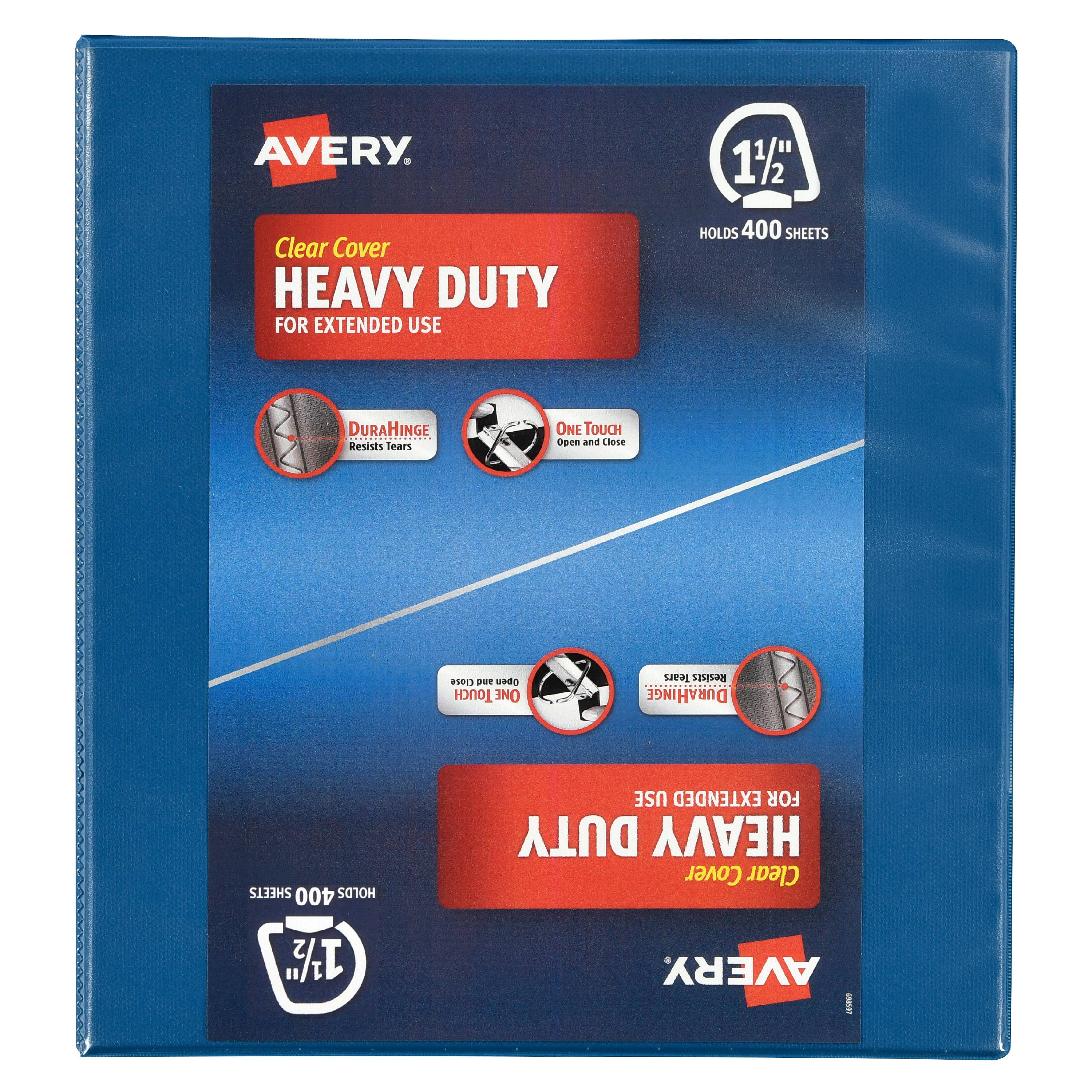 "Avery Clear Cover 1 1/2"" Heavy Duty Binder"