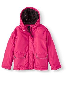 Climate Concepts Girls Polar Fleece Lined Hooded Jacket, Sizes 4-16