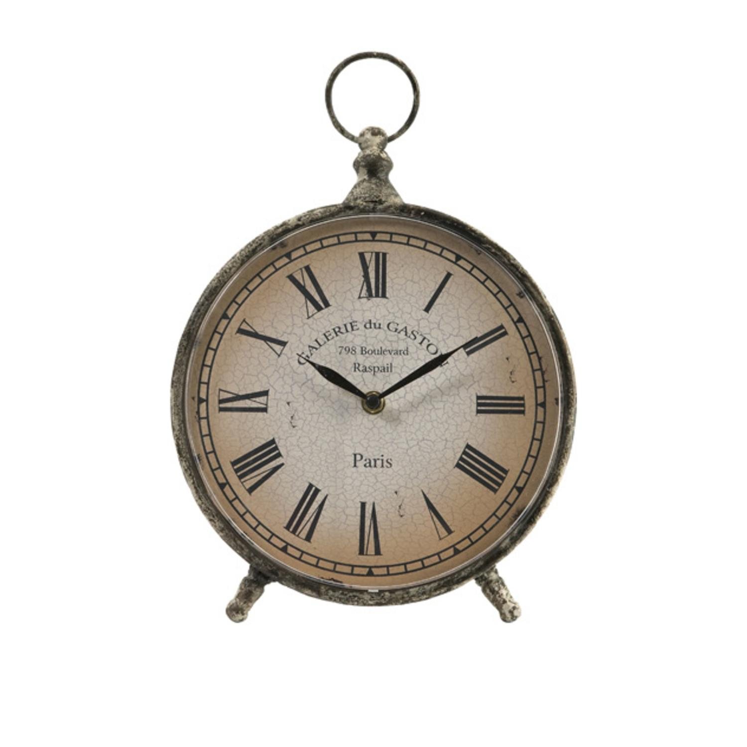 "11.5"" Distressed Over-Sized ""Pocket Watch"" Style Roman Numeral Desk Clock by CC Home Furnishings"