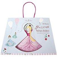 Meri Meri I'm a Princess Balloon Holders with Ribbons & Balloons - Set of 8 NEW!