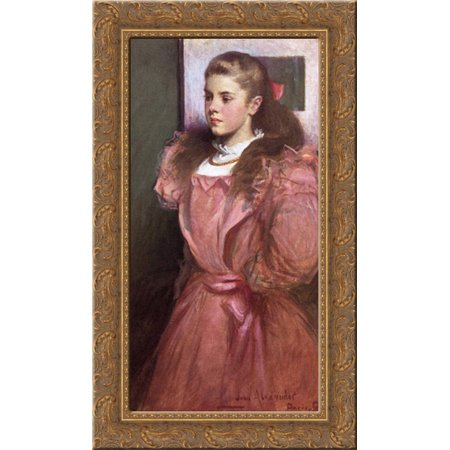 - Young Girl in Rose 16x24 Gold Ornate Wood Framed Canvas Art by Alexander, John White