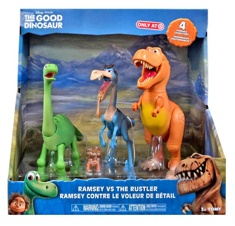 Disney The Good Dinosaur Ramsey vs The Rustler Action Figure 4-Pack by TOMY