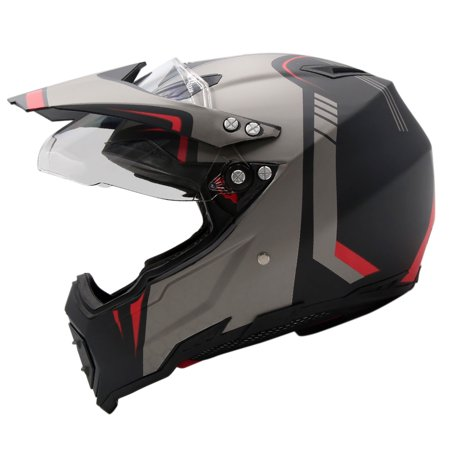 Dirt Bike Helmet With Visor >> Xl Unisex Adult Dirtbike Off Road Atv Motocross Motorcycle Helmet