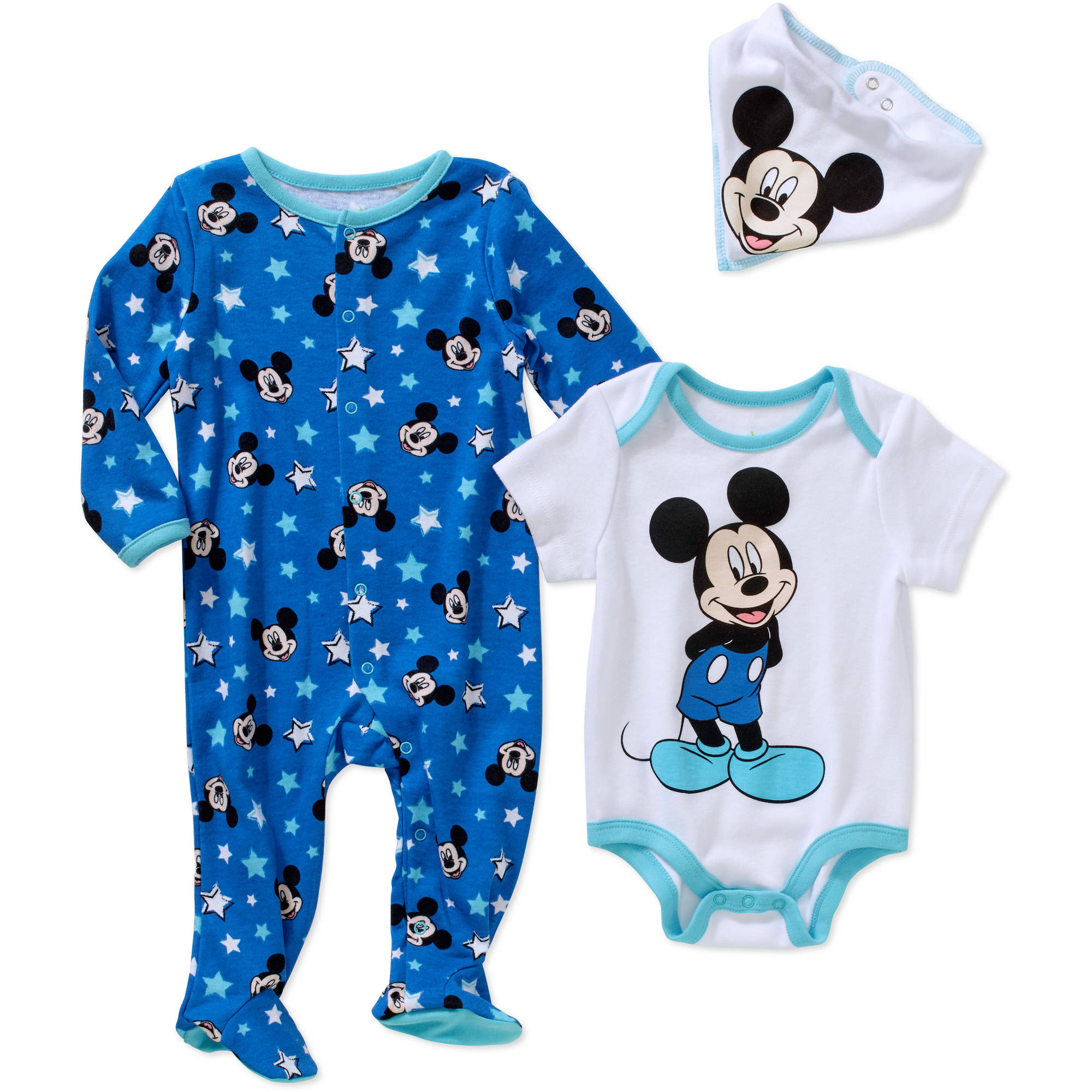 Mickey Mouse Newborn Baby Boy 3-Piece Layette Set