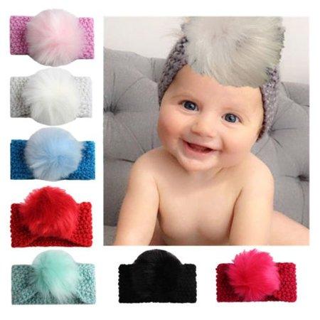 Fashion Cute Kids Girl Baby Toddler Crochet Bow Headband Hair Band Accessories Winter Hot Sale - Ugg Headband Sale