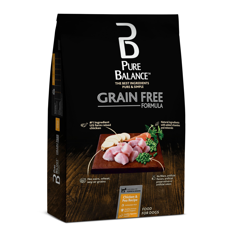Pure Balance Grain Free Chicken & Pea Recipe Food for Dogs 24lbs