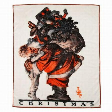 Saturday Evening Post Royal Plush Fleece Hug From Santa Christmas Throw Blanket](Saturday Evening Post Halloween)