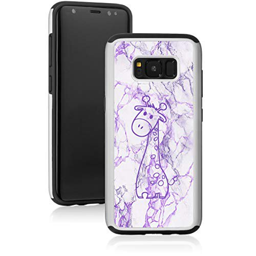 Marble Shockproof Impact Hard Soft Case Cover For Samsung Galaxy Cute Giraffe Cartoon Purple For Samsung Galaxy S8 Walmart Com Walmart Com
