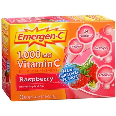 2 Pack - Emergen-C La vitamine C Mélange de boisson Packets framboise 30 Chaque