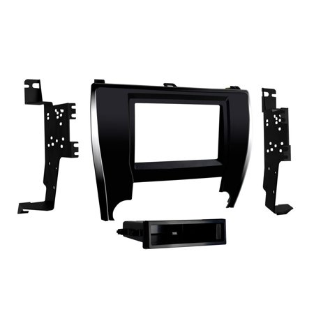 99-8249 Single/Double DIN Dash Kit for 2015 - Toyota Camry (Black), Installation Dash Kit for Single or Double DIN Head units For 2015 - Up Toyota Camry.., By