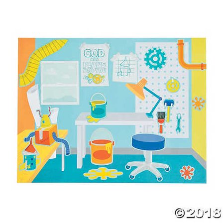 Geared Up for God VBS Sticker Scenes (Themes For Vbs)