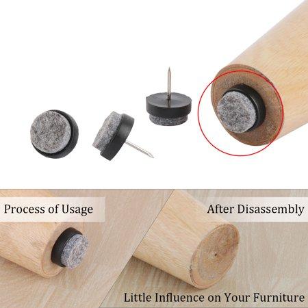 Felt Pad Nails Glides Floor Protector Anti-scratch Furniture Leg 20mm Dia 50pcs - image 5 of 7
