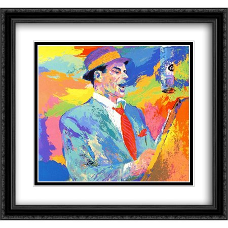 Frank Sinatra Duets 2x Matted 30x28 Large Black Ornate Framed Art Print by Neiman, LeRoy