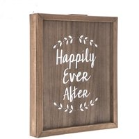 Happily Ever After Guest Book Wood Wall Decoration Wedding Reception Decoration