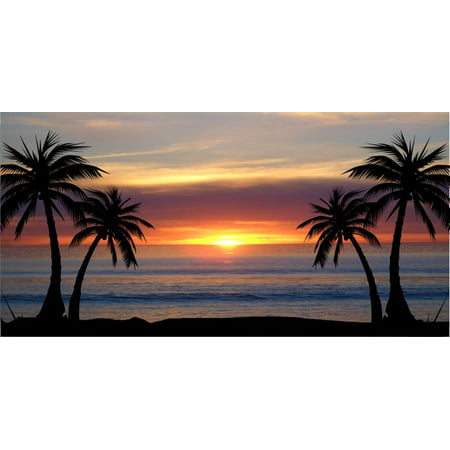 - Palm Trees At Sunset Photo License Plate Free Personalization on this plate