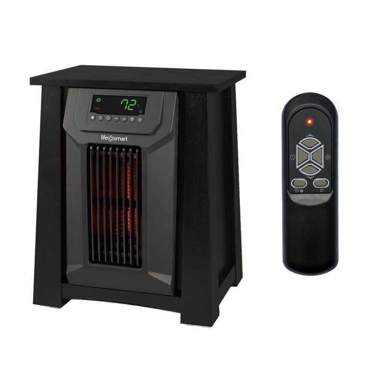 Lifesmart 8 Element Portable Infrared 6 Quartz 2 Mica Space Heater w/ 3 Settings