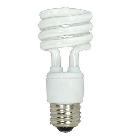 Satco S7219 13W T2 Ultra Mini Spiral Light Bulb Screw-In 5000K fluorescent