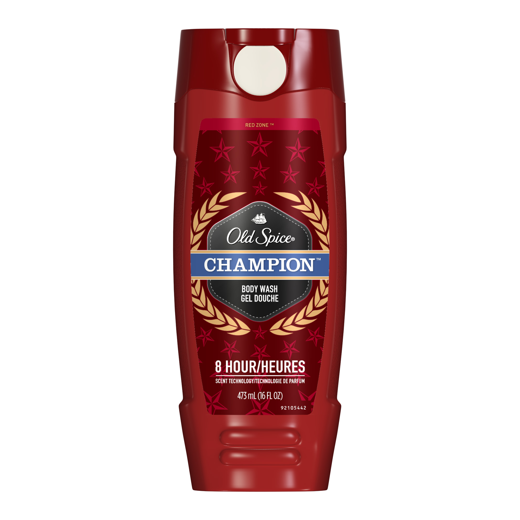 Old Spice Red Zone Champion Scent Body Wash for Men, 16 oz