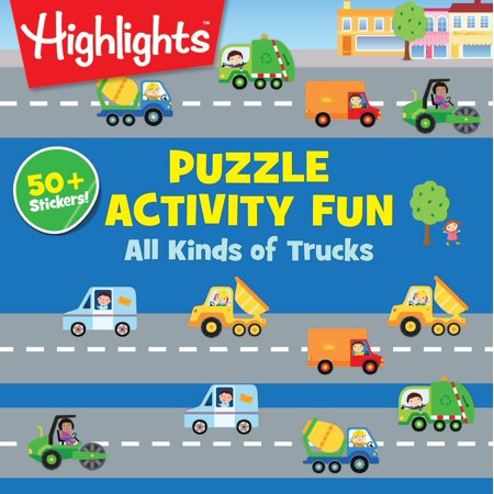 Puzzle Activity Fun: All Kinds of Truck Puzzles (Paperback) (Halloween Activities Puzzles)