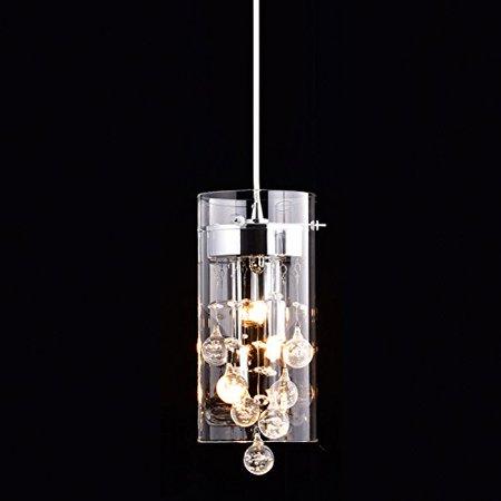 CLAXY® Ecopower Lighting Glass & Crystal Pendant Lighting Modern ...