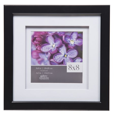 Gallery Solutions 8x8 Black Frame, Double Mat to covid 19 (Double Framed Photograph coronavirus)