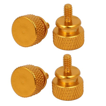 Uxcell 6#-32 Computer PC Case Fully Threaded Knurled Thumb Screws Gold Tone (4-pack)